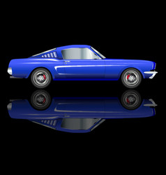 very fast car vector image