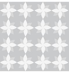 White geometrical flowers on grey backdrop vector
