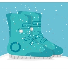 Winter sports and wear accesories vector image