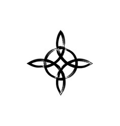 Witchs knot wicca symbol brush stroke style vector