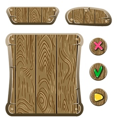 Wooden game assets-3 vector