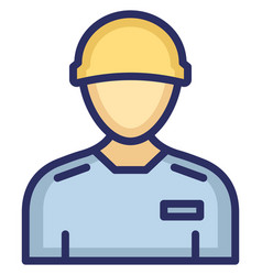 Worker icon which can easily modify or edi vector