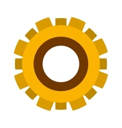 yellow silhouette gear wheel icon vector image