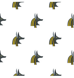 anubis head pattern seamless vector image vector image