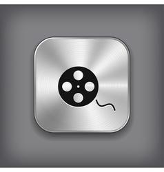 Film roll icon - metal app button vector image vector image