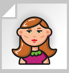 people face icons 23 vector image
