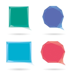 Set of low poly geometric speech bubble vector image vector image