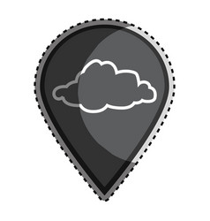 sticker monochrome mark icon pointer gps with vector image vector image