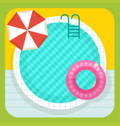 summer round swimming pool vector image vector image