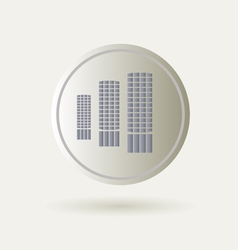Icon with buildings vector image vector image