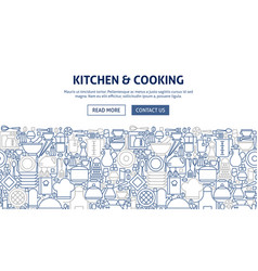 kitchen cooking banner design vector image