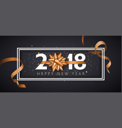 2018 happy new year background with golden vector image vector image