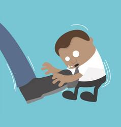 businessman big foot kicking flat vector image vector image