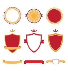 Colorful flat design badges collection vector image