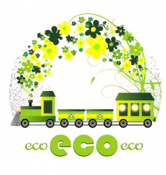 ecology design illustration vector image vector image
