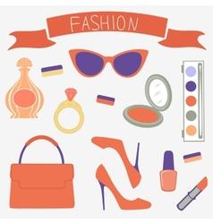 Fashionable set vector image
