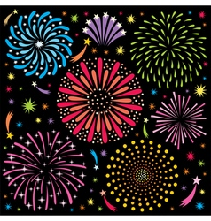 Fireworks 2 vector image vector image