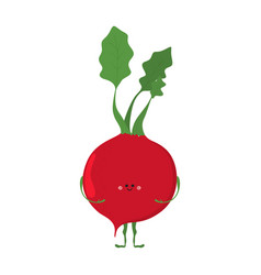funny vegetable card vector image