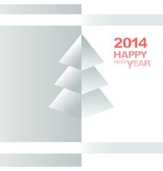 Happy New Year Christmas Tree vector image vector image