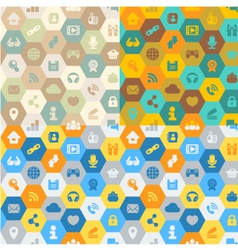 Internet Cells Seamless Pattern vector image vector image