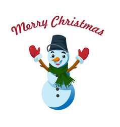 snowman - christmas and new year character vector image vector image