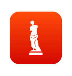 ancient statue icon digital red vector image vector image