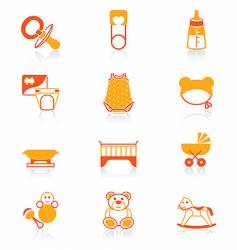 baby icons juicy series vector image