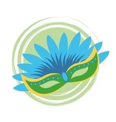 Mask of brazil design vector