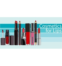 Series Cosmetics for Lips vector image