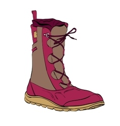womens winter warm boots vector image