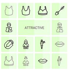 14 attractive icons vector