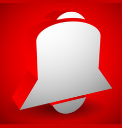 3d bell alarm siren notification icon vector