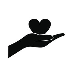 A hand giving a heart icon vector image
