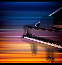 Abstract blur music background with grand piano vector