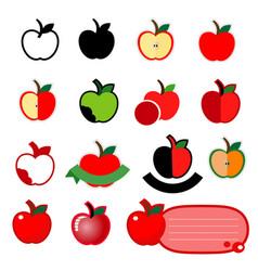 apple icon set logo design on white background vector image