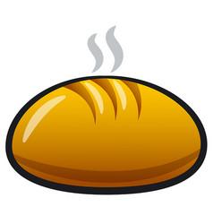 baking loaf bread vector image