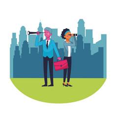 business saving money cartoon vector image