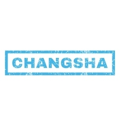 Changsha Rubber Stamp vector image