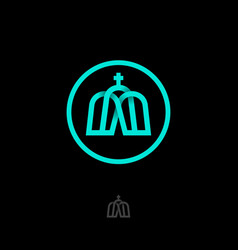 Church logo logocrossed lines cross vector