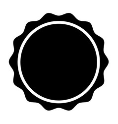 circle seal stamp lace vector image