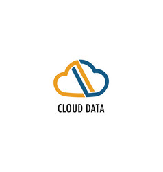 cloud data logo vector image