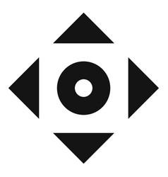 Cursor displacement app icon simple black style vector