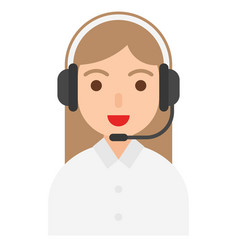 customer support icon profession and job vector image