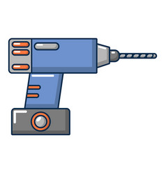 drill icon cartoon style vector image