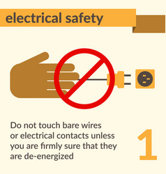 Electrical safety and health icons and signs set vector