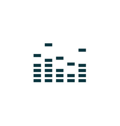 equalizer icon simple vector image vector image