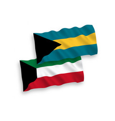 Flags commonwealth the bahamas and kuwait vector