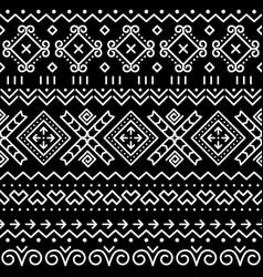 Folk art seamless geometric pattern vector