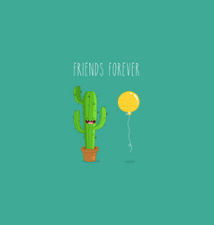 Funny cactus stickers can be vector
