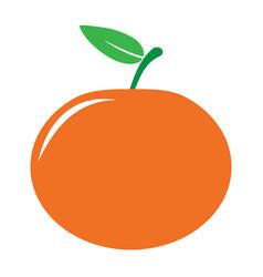 Garden tangerine or mandarine icon vector